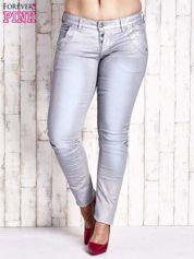 Niebieskie woskowane spodnie glitter PLUS SIZE