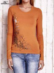 O'NEILL Pomarańczowa bluzka z błyszczącym nadrukiem