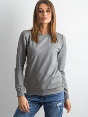 Oliwkowa bluza damska basic