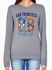 Oliwkowa bluza z napisem SAN FRANCISCO