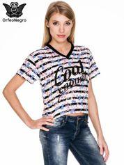 Pasiasty t-shirt z napisem GOOD ENOUGH