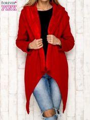Płaszcz dresowy z kapturem czerwony