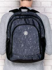 Plecak szkolny chłopięcy w drobny deseń