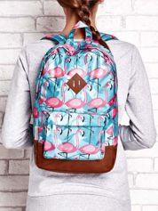 Plecak szkolny nadruk flamingów