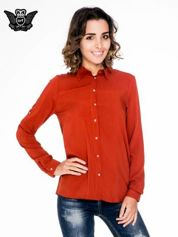 Pomarańczowa koszula damska z zamkiem z tyłu