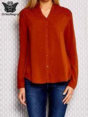 Pomarańczowa koszula z haftowanym wzorem