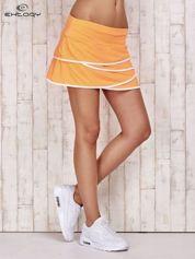 Pomarańczowe spodenki spódniczka tenisowa z falbankami