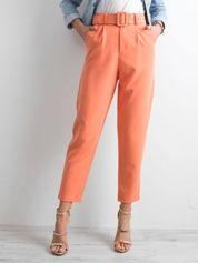 Pomarańczowe spodnie high waist