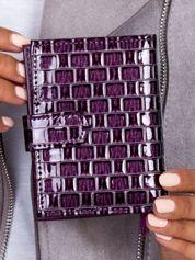 Portfel damski fioletowy z motywem geometrycznym
