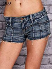 RALPH LAUREN Niebieskie szorty jeansowe trashed
