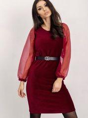 RUE PARIS Bordowa sukienka Dalilah