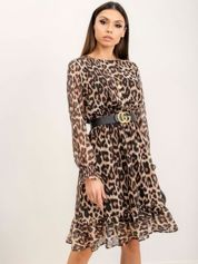 RUE PARIS Brązowo-czarna sukienka Lula