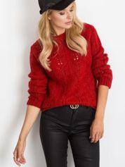 RUE PARIS Ciemnoczerwony sweter Brando