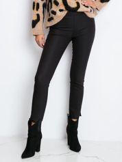 RUE PARIS Czarne spodnie Glitter