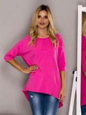 Różowa bluzka z przeszyciami