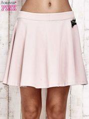 Różowa dresowa spódnica szyta z koła