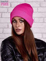 Różowa neonowa czapka beanie