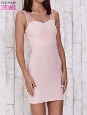 Butik Różowa sukienka tuba z tiulowymi ramiączkami