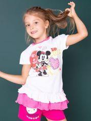 Różowa tunika dla dziewczynki z motywem MINNIE MOUSE