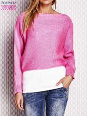 Różowy krótki sweter