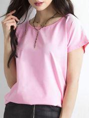 Różowy t-shirt Circle