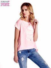 Różowy t-shirt z napisem WASZA WYSOKOŚĆ