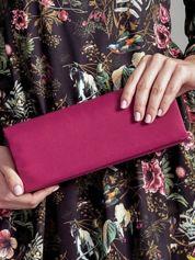 Satynowa gładka kopertówka z lusterkiem amarantowa