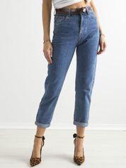 Spodnie damskie mom jeans niebieskie