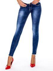 Spodnie jeansowe ciemnoniebieskie z suwakami