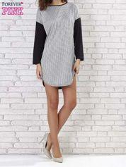 Sukienka two tone w geometryczne wzory