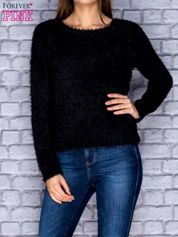 Sweter damski czarny puszysty