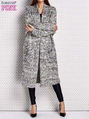 Sweter z wielokolorowym splotem fioletowy