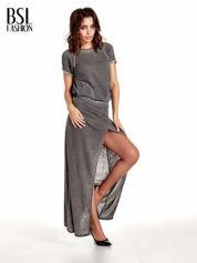 BY SALLY Szara sukienka maxi z dekoltem na plecach