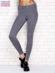 Szare melanżowe legginsy