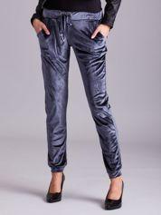 Szare spodnie welurowe