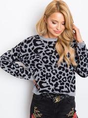 Szaro-czarny sweter Jacky