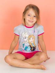 Szaro-różowa piżama dla dziewczynki KRAINA LODU