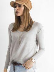 Szary luźny damski sweter