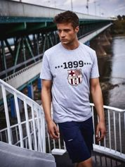 Szary t-shirt męski FC BARCELONA