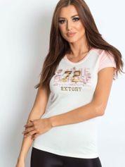 T-shirt z liczbą 72 jasnoróżowy