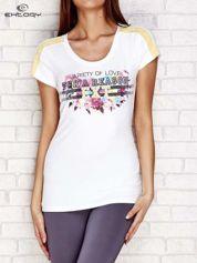 T-shirt z napisem VARIETY OF LOVE biały