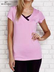 T-shirt z trójkątnym dekoltem jasnofioletowy PLUS SIZE