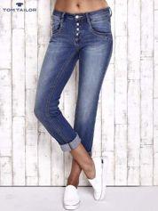 TOM TAILOR Niebieskie przecierane spodnie boyfriend jeans