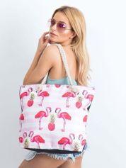 Torba na zakupy w ananasy i flamingi