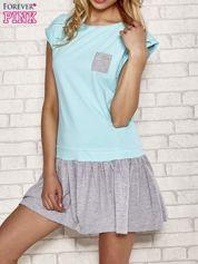 Turkusowa dresowa sukienka tenisowa z kieszonką