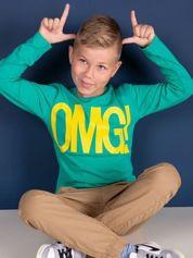 Zielona bawełniana bluzka dla chłopca