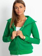 Zielona bluza z miękkim kołnierzem