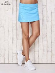 Zielone gładkie spodenki spódniczka tenisowa