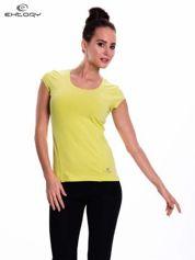 Zielony damski t-shirt sportowy basic