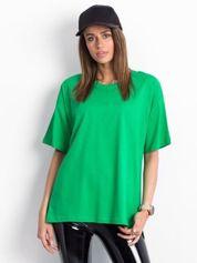 Zielony t-shirt o kroju oversize